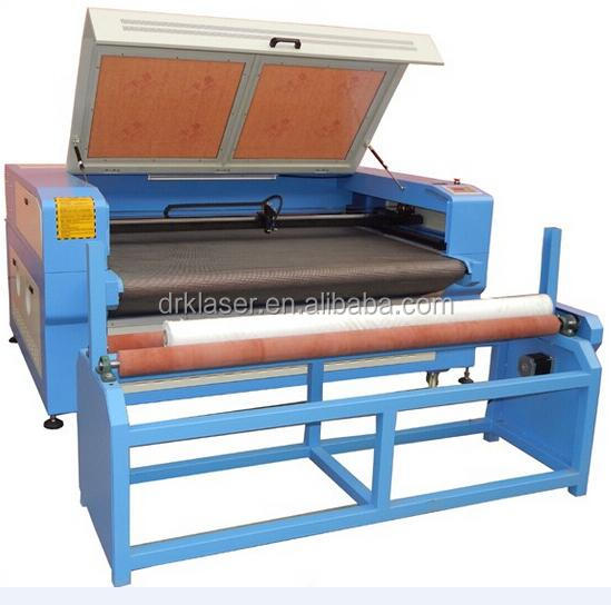1290 1390 1490 CO2 auto feeding laser cutting machine for fabric in roll with rotary attachment