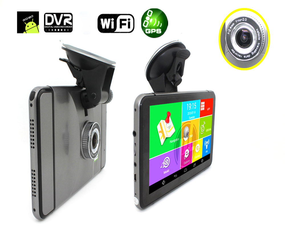 Truck Vehicle Gps Navigator 512M 16G Wireless Rearview Camera Optional Car Navigation System