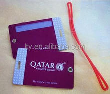 Custom printing travel tag with luggage tag wire