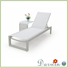 High Quality Swimming Pool Furniture Mesh Fabric ALuminum Deck Chair Sun Lounger Chair Chaise Lounge
