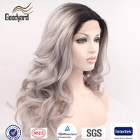 Ombre Grey Lace Front Synthetic Wigs