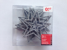Plastic glitter star christmas tree decoration
