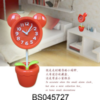 Mickey Top on Stand in Pot Flower Table Alarm Clock Cartoon Clock for Decoration