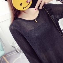 Women Sexy Dresses Summer With Black Pure Colour Pullover Round Neck