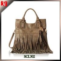 2016 High Quality Leather Tassel bags Ldaies Cross Body Shoulder Handbags