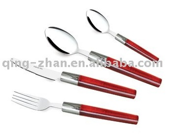 Stainless steel flatware with colored handle t072 buy flatware spoon with plastic handle - Flatware with colored handles ...