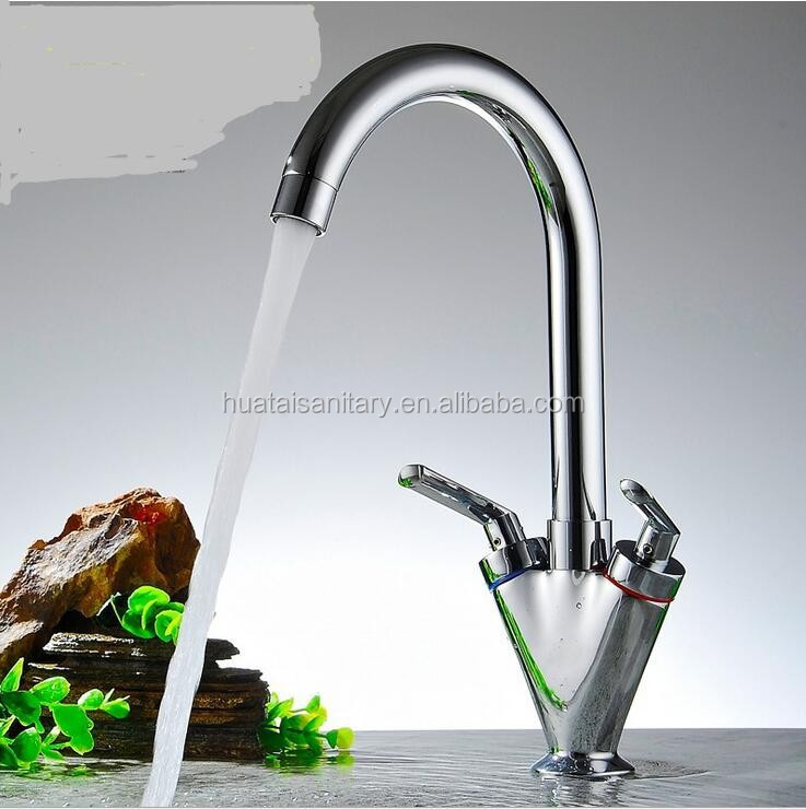 Sink-Mounted Swan Neck Monobloc Mixer Kitchen Tap Chrome with Swivel Spout with Swivel Spou