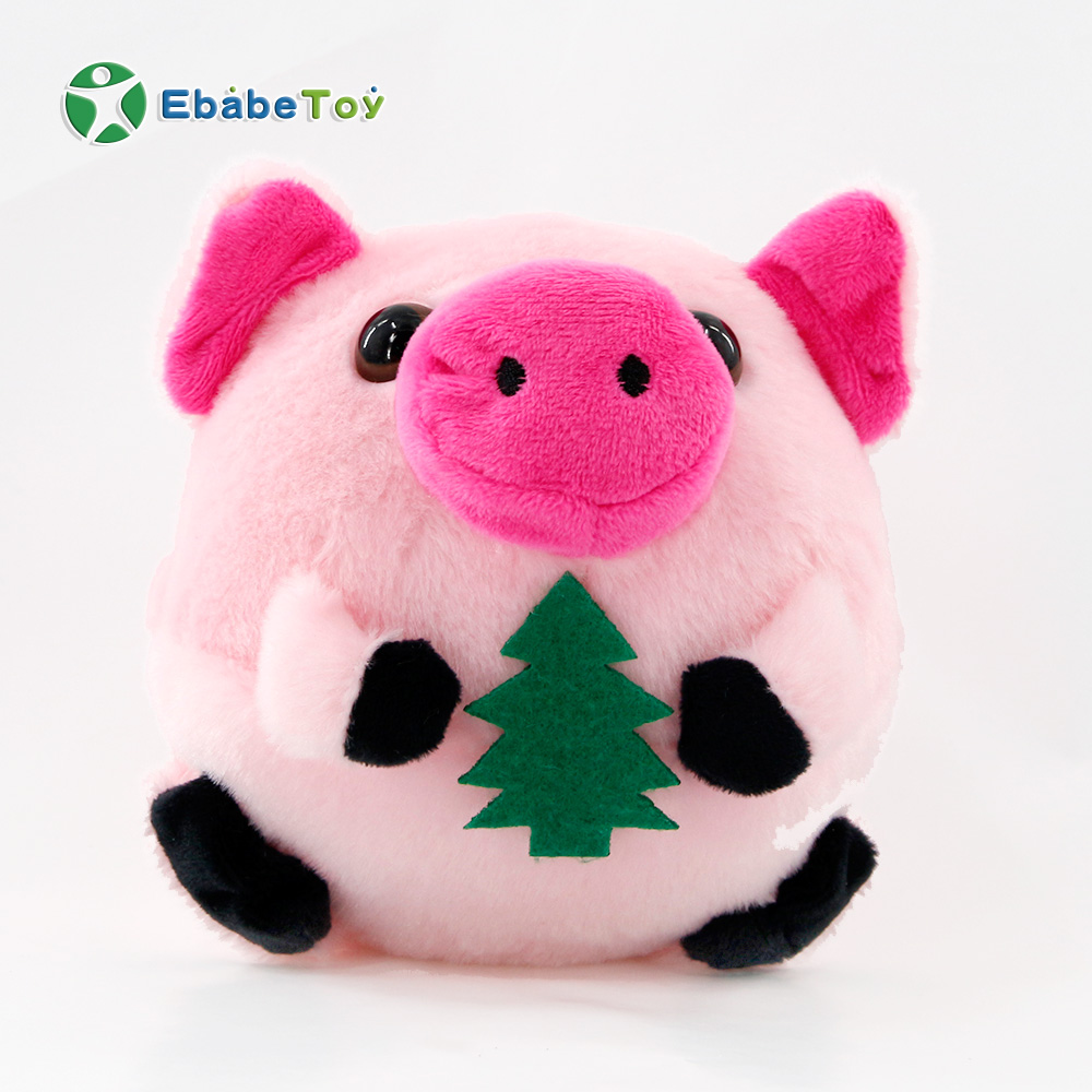 2019 kids pink pig jumping ball plush toys USB charging version electric stuffed toys