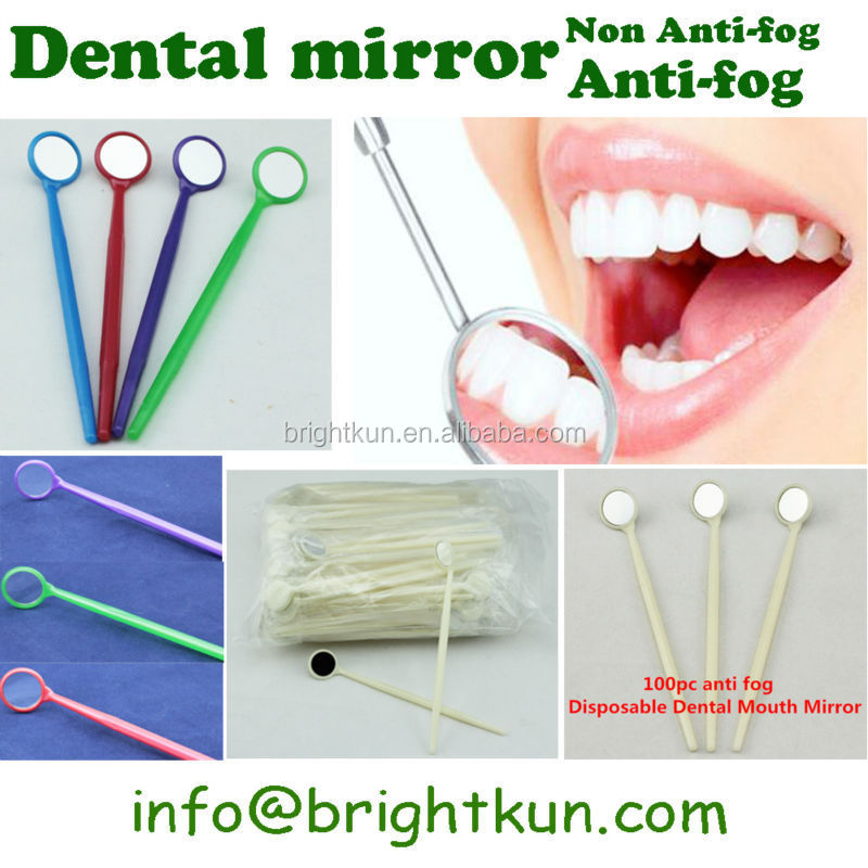 Colored Dental Mouth Mirror,Disposable Dental Mouth Mirrors,Seven Colors Available