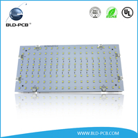 Round double-sided PCB Board Aluminium based pcb led assembly