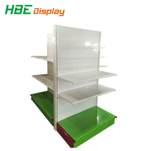 Nice Design Cold Rolled Steel Gondola /Single-sided Wall Customized Convenient Store Display Shelf.