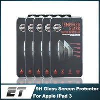 China wholesale products 0.33mm 2.5D 9H hardness tempered glass screen protector for iPad 3