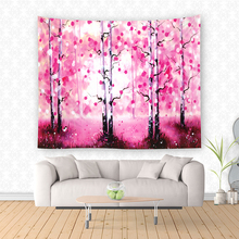 High Quality Pink Jungle Printed Wall To Wall Carpet Hanging Wholesale Tapestry