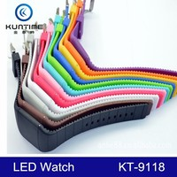Led Silicone Sports custom logo watches