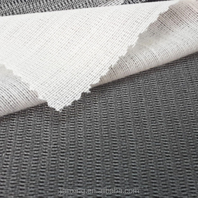 Eco-friendly polyester fusible knitting tricot interlining for garment