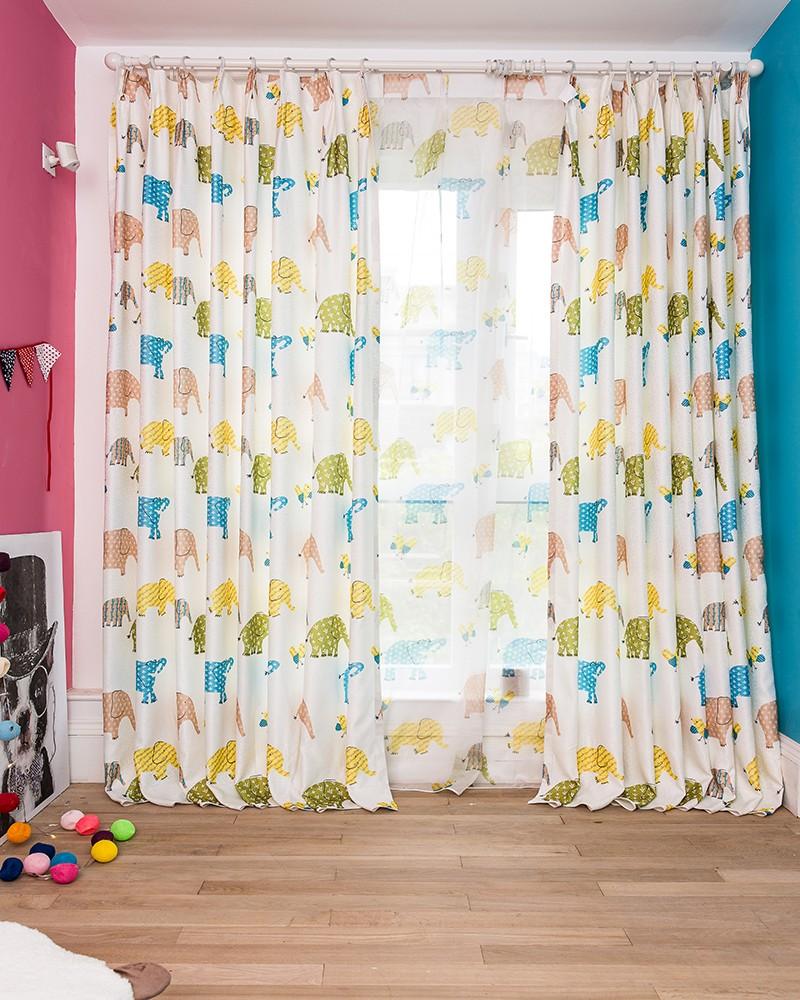 Ontwerpen curtainready made printing stof gordijnen met gekleurde ...