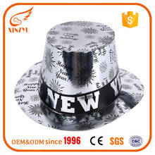 Newest assorted cardboard party top hats paper happy new year party hats