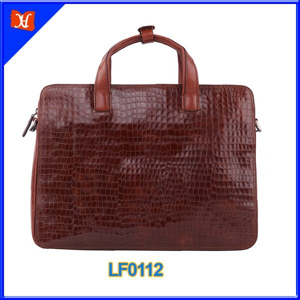 Hot Selling Occident Style real hard genuine leather executive men leather briefcase brand men messenger bag