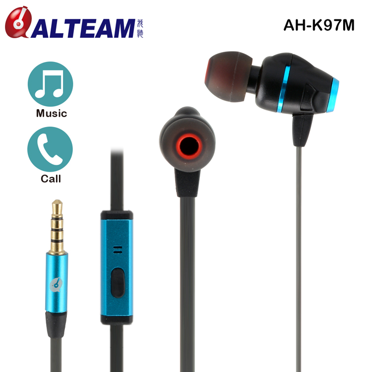 Colorful <strong>wired</strong> in ear dual driver fancy earphone with microphone