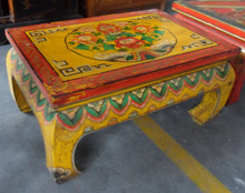 Antique Mongolia painting Kang table LWD331