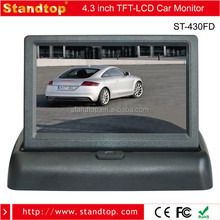 stand alone 4.3 tft lcd rearview car folding lcd monitor stand