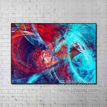 Framed Abstract oil canvas paintings wall art pictures