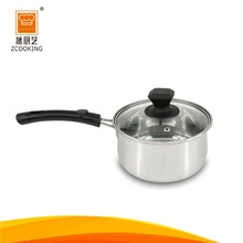 18cm Stainless Steel Single & Capsuled Bottom Milk Heating Cooking Pot