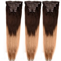 "Top Quality 2015 New Arrival Brazilian Virgin Hair ,Top Quality 8-32"" Brazilian Virgin Clip In Human Hair Extension"