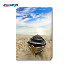 Sea Boat Sand Peaceful Scenery Art LED Lighting Canvas Painting For Home Decor and Gift