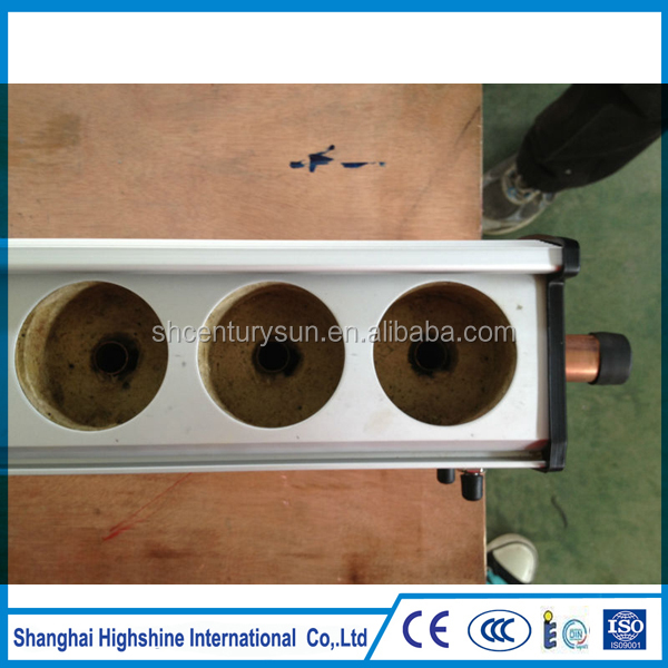 pressure copper heat pipe evacuated tubes solar collector manifold manufacturer and factory
