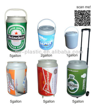 High quality factory Plastic rolling can ice barrel cooler