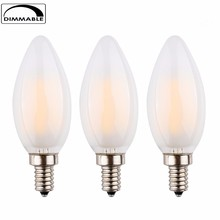 360 Degree c35 c32 B10 E12 E14 CE RoHS Led Filament Bulb ,Warm White ,LED Candle Bulb