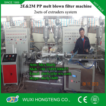 2016 PP spun/melt blown filter machine from shirly
