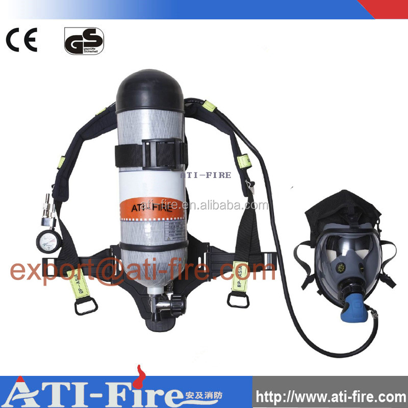 Compressed air breathing apparatus for fire fighting
