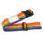 Fashion Custom Rainbow Stripe Adjustable Luggage Straps,Nylon Suitcase Belts Travel Bag Accessories