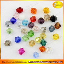Crystal Bicone Beads Assorted Colors Rondelle Faceted Glass beads Wholesale