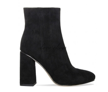 autumn winter suede block heel fashion shoes women ankle boots made in china