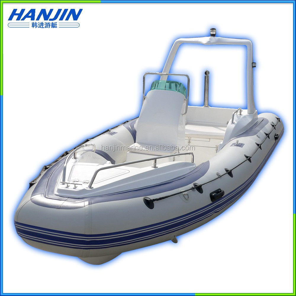 China factory Wholesale Fiberglass Hull Inflatable RIB Boat
