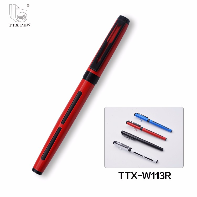 New Design Free Ink Metal Roller Ball Pen with Custom Logo and Color