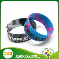 Promotional custom one inch size silicone wristband