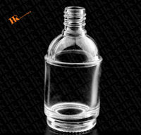 Antique look round nail polish bottle clear glass high quality