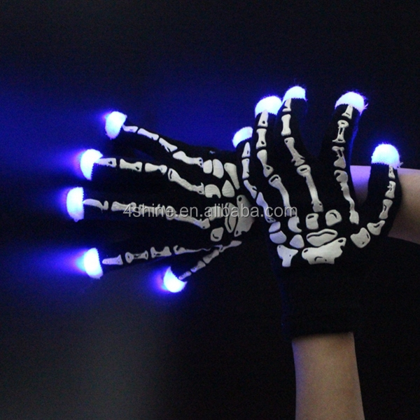 Make up high quality hand bone led gloves