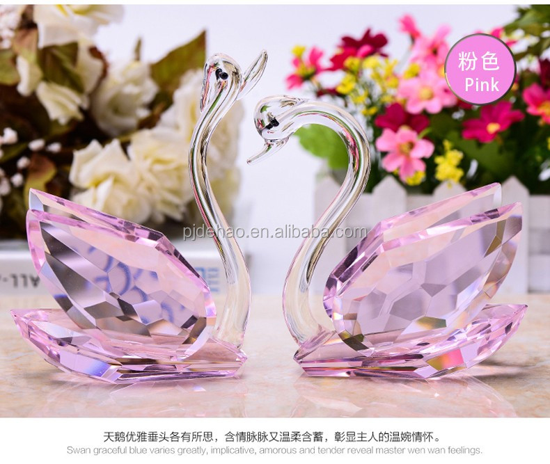 K9 High Quality Wedding Gift and Valentine's Day Gift Crystal Swan