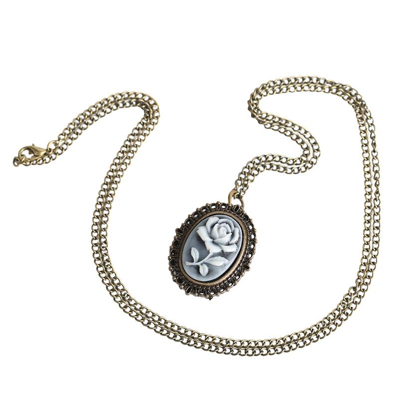 Vintage Beautiful Charm Flower Rose Elegant Small Size Pocket Watch Necklace Pendant for Ladies Girl Woman Art Rosebush Clocks (5)