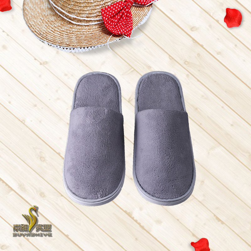 Inn Hotel Indoor Travel Use Comfort Wool Felt Slippers For Guests