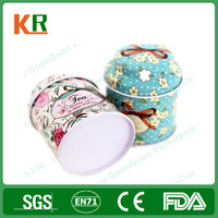 High-quality wholesale open easy printed decorative round tea tins box