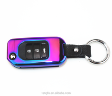 Novelty design high quality colorful custom metal car key shell for Honda brand car key