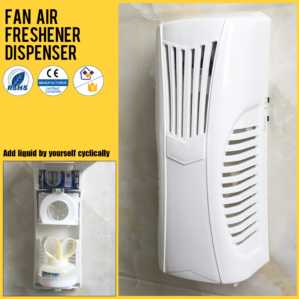 electric refill perfume dispenser D battery operated pure spray smart automatic fan air freshener dispenser with AC adapte