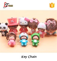 hot sale cute plastic monchichi keychain 2016