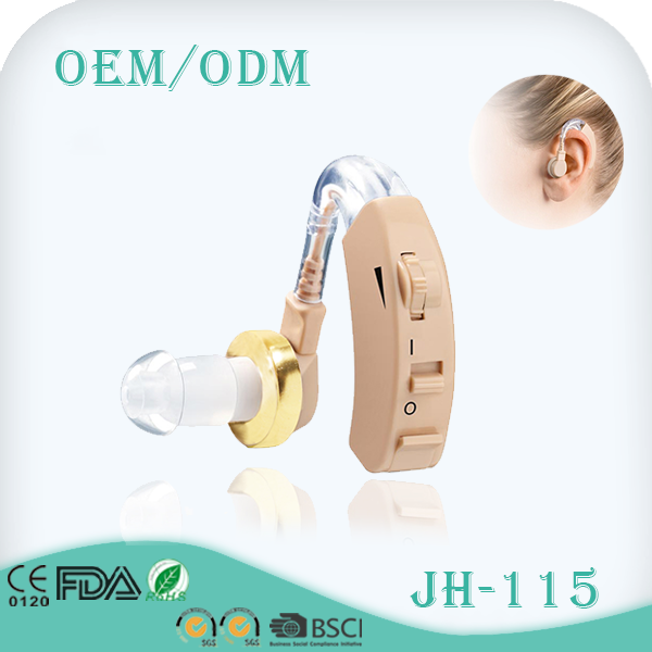 Low noise behind the ear voice amplifier hearing aid with Medical CE